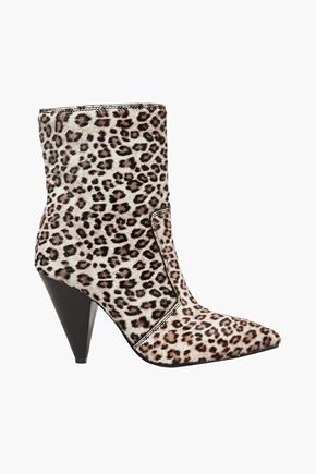 STUART WEITZMAN Atomic West leopard-print calf hair ankle boots