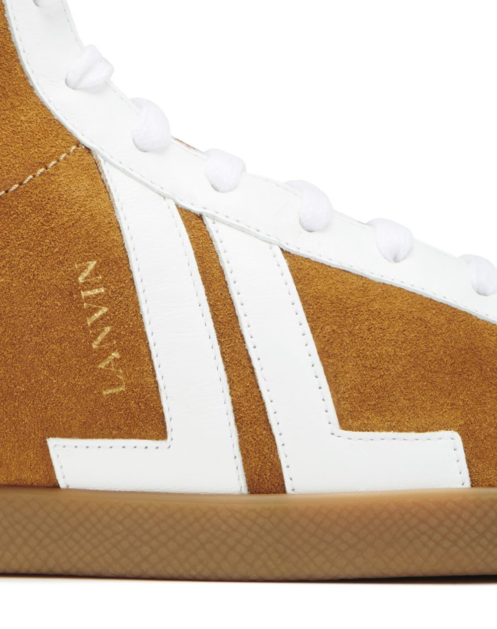 DUAL-MATERIAL JL HIGH-TOP SNEAKERS - Lanvin
