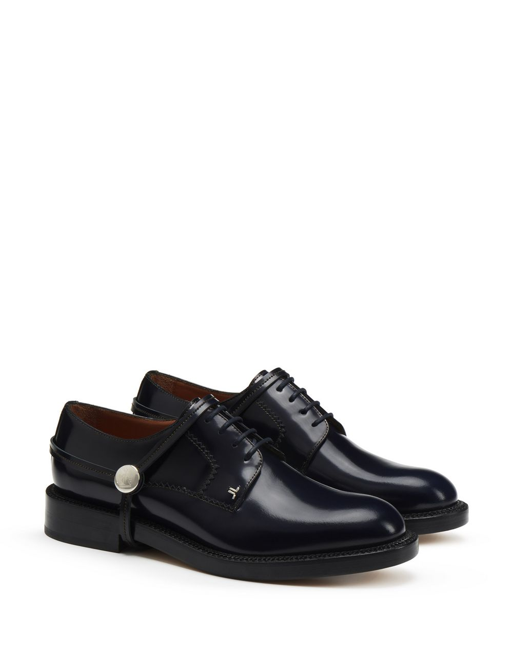 SHINY CALFSKIN LEATHER DERBY SHOE - Lanvin