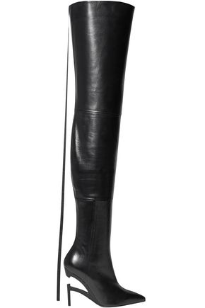 BEN TAVERNITI™ UNRAVEL PROJECT Leather thigh boots