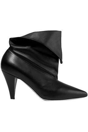 GIVENCHY حذاء بوت إلى الكاحل من الجلد المطويّ