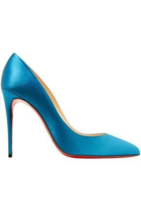 CHRISTIAN LOUBOUTIN Pigalle Follies 100 satin pumps