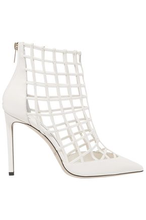 JIMMY CHOO Sheldon 100 caged leather ankle boots