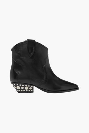 ISABEL MARANT Dawyna studded leather ankle boots