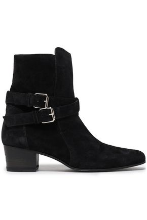 AMIRI Buckle-detailed suede ankle boots