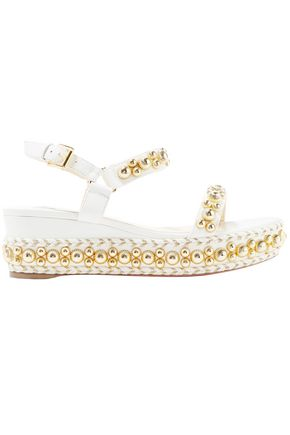 CHRISTIAN LOUBOUTIN Rondaclou 60 studded leather wedge sandals
