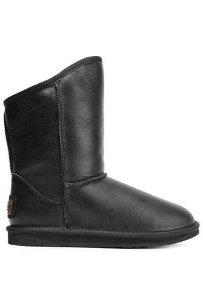 AUSTRALIA LUXE COLLECTIVE Shearling-lined leather snow boots