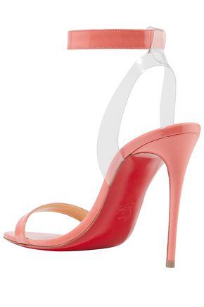 sports shoes 1eb3b 0840f Jonatina 100 PVC-trimmed patent-leather sandals | CHRISTIAN ...