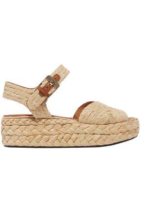 CLERGERIE Raffia platform sandals