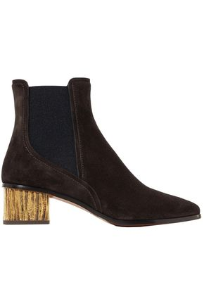CHLOÉ Embellished suede ankle boots