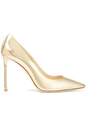 JIMMY CHOO Mirrored-leather pumps