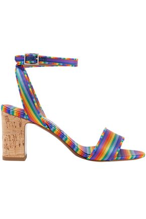 TABITHA SIMMONS Striped satin-twill sandals
