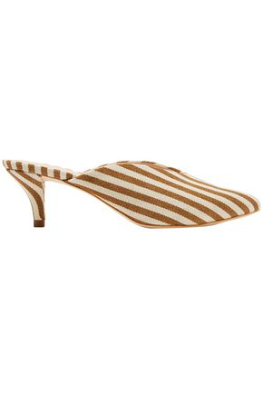 LOEFFLER RANDALL Juno striped canvas mules