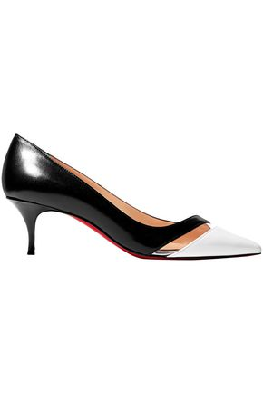 CHRISTIAN LOUBOUTIN 17th Floor 55 PVC-trimmed leather pumps
