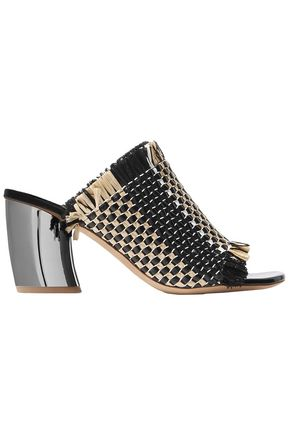 PROENZA SCHOULER Woven leather and raffia mules