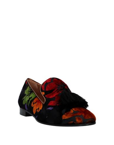 Фото 2 - Женские мокасины  черного цвета