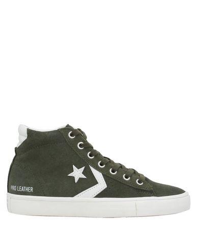 Фото - Высокие кеды и кроссовки от CONVERSE ALL STAR цвет зеленый-милитари