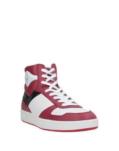 Фото 2 - Высокие кеды и кроссовки красно-коричневого цвета