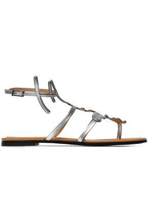 EMILIO PUCCI Metallic leather sandals