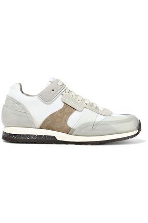 ACNE STUDIOS Joriko suede, mesh and PVC sneakers
