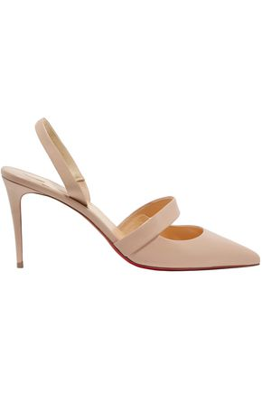 CHRISTIAN LOUBOUTIN Cutout leather slingback pumps