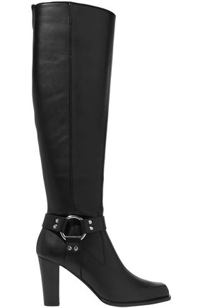 ALTUZARRA Embellished leather knee boots