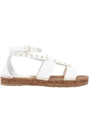 JIMMY CHOO Studded leather espadrille sandals