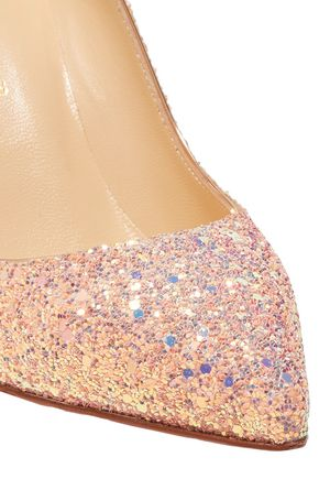 CHRISTIAN LOUBOUTIN Pigalle Follies 85 glittered leather pumps
