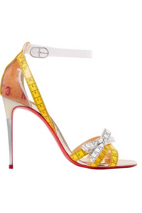 CHRISTIAN LOUBOUTIN Metrisandal leather and PVC Sandals