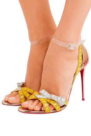 low priced c7426 cf671 Metrisandal leather and PVC Sandals   CHRISTIAN LOUBOUTIN ...