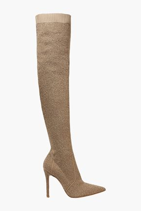 GIANVITO ROSSI Bouclé-knit over-the-knee boots