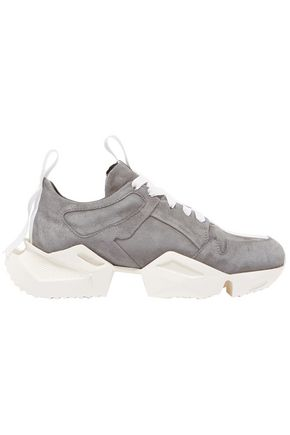 BEN TAVERNITI™ UNRAVEL PROJECT Grosgrain-trimmed suede sneakers