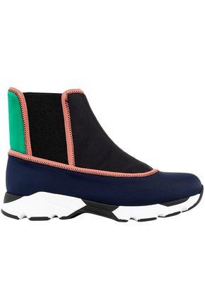 MARNI Color-block neoprene high-top sneakers
