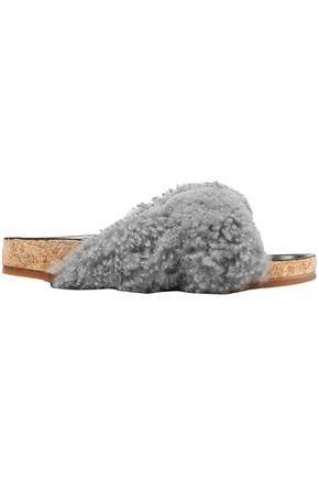 CHLOÉ Shearling slides