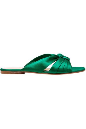 GIANVITO ROSSI Knotted silk-satin slides