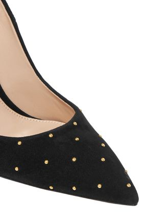 GIANVITO ROSSI Studded suede pumps