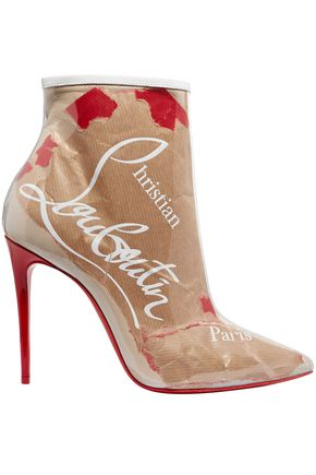 CHRISTIAN LOUBOUTIN So Kate 100 logo-print PVC ankle boots