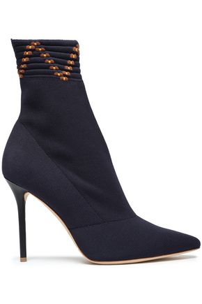 MALONE SOULIERS Jacquard-knit ankle boots
