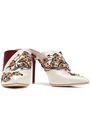 MALONE SOULIERS Portia 100 embellished two-tone satin mules