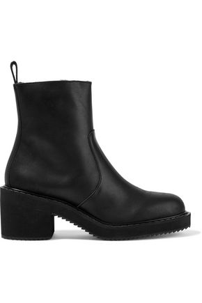JIL SANDER NAVY Leather ankle boots