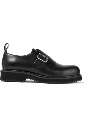 JIL SANDER NAVY Buckled leather brogues