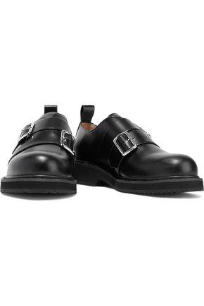 JIL SANDER NAVY Buckled leather brogues