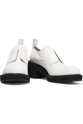 Jil Sander Navy Woman Leather Brogues White