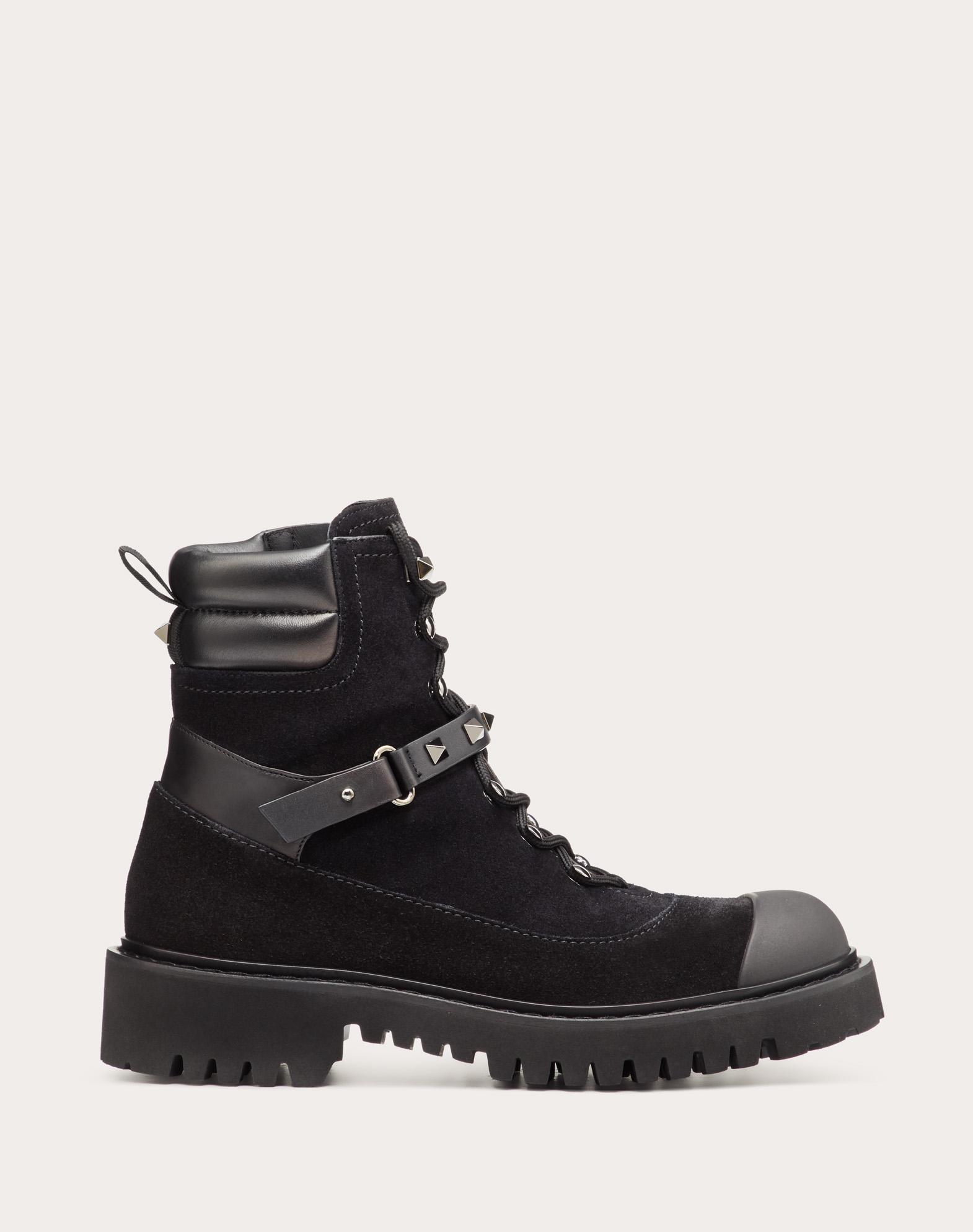 Rockstud Split Leather Boot 15 mm