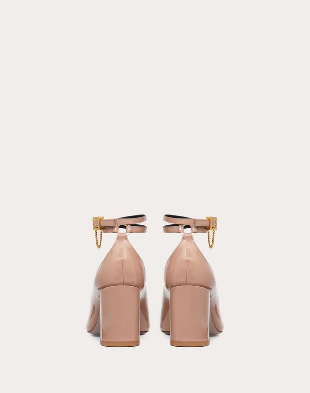 Лаковые туфли с цепочкой, каблук 70 мм