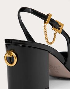 Slingback Patent Leather Pump 70 mm