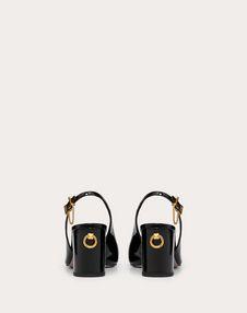 Лаковые туфли с задним ремешком, каблук 70 мм