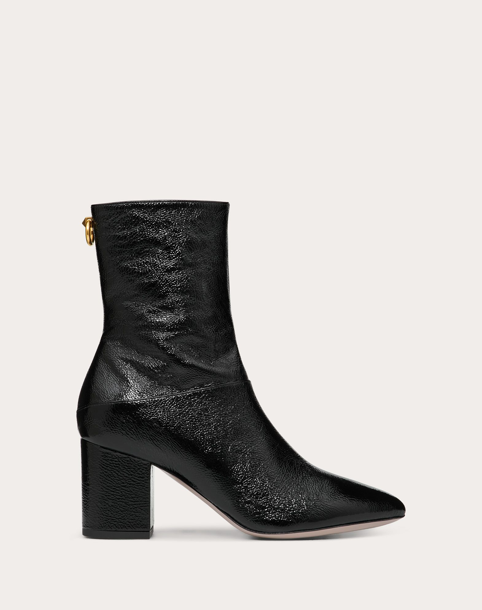 Naplak Leather Ankle Boot with Loop Detail 70 mm
