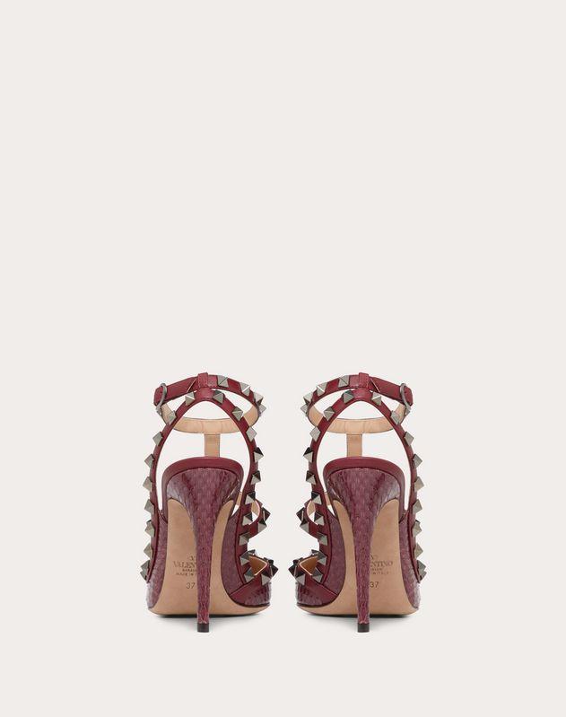 Туфли Rockstud из кожи лазающего полоза, каблук 100 мм