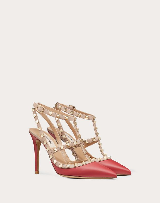 Rockstud Ankle Strap Pump 100 mm